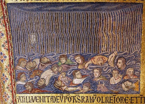 Le déluge - Mosaïque de la basilique Saint-Marc, Venise