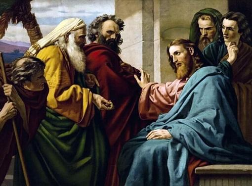 Ernst Karl Georg Zimmermann - Jésus et des pharisiens - 1900