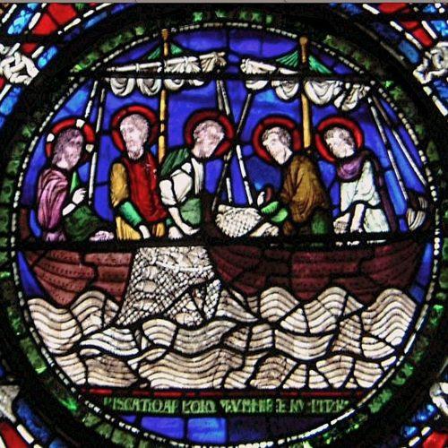 La pêche miraculeuse - cathédrale de Canterbury