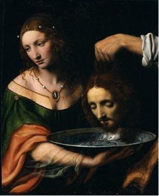 Salomé avec la tête de saint Jean Baptiste -  Bernardino Luini (vers 1480-1532)