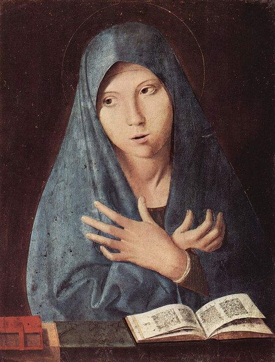 La Vierge de l'Annonciation, vers 1476-1477, Munich, Alte Pinakothek