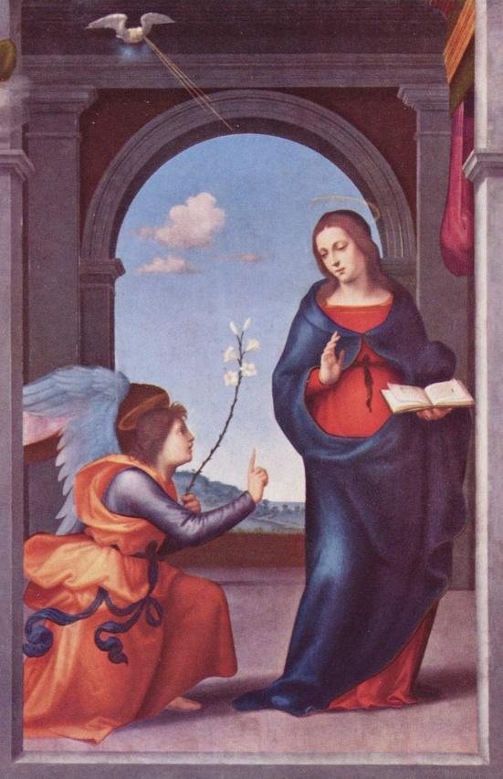 L'Annonciation faite à Marie 1508 Mariotto Albertinelli - Alte Pinakothek, Munich