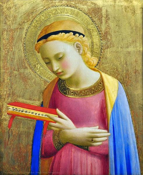 Vierge de l Annonciation 1431 de Fra Angelico - Institute of Arts Detroit USA