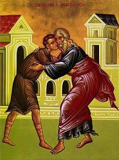 icône du fils prodigue et de son père
