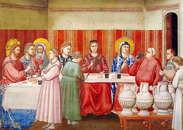 Le signe de Cana Giotto Chapelle des Scrovegni Padoue