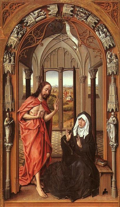 Apparition du Christ à sa Mère - Rogier Van Der Weyden (1400-1464, Belgique)