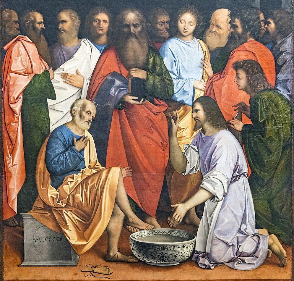 Le Christ lavant les pieds des disciples - Giovanni Agostino da Lodi 1470-1519