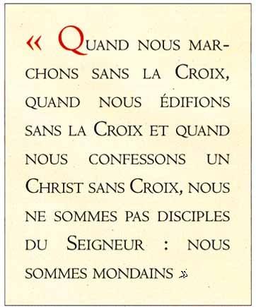 pas de disciples sans la Croix - Pape François