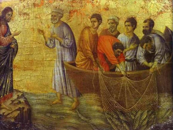 la pèche miraculeuse- Duccio di Buoninsegna (vers 1255-vers 1319) - Sienne, Musée de l'Œuvre de la cathédrale