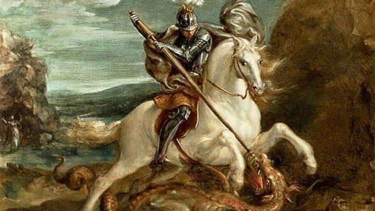 saint Georges terrassant le démon Hans von Aachen (1552-1615)