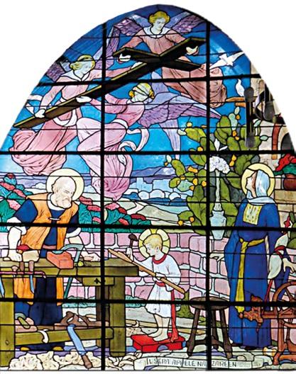 La Sainte Famille-Vitrail de l'église Notre-Dame des Airs Saint-Cloud - L et A Alleaume vers 1937