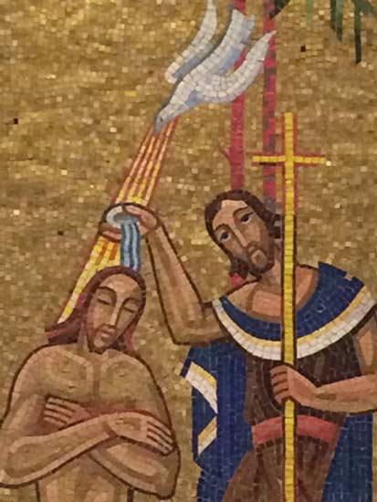 Mosaïque du baptistère de la Basilique Sainte-Anne-de-Beaupré -Québec