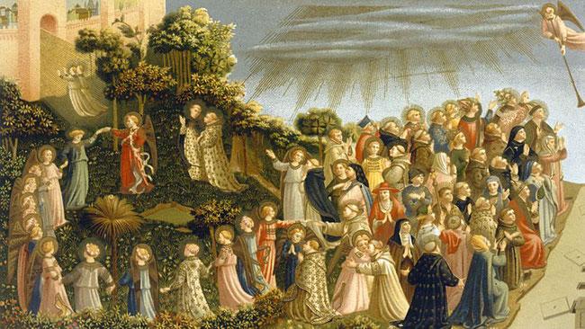 Fra Angelico la ronde des élus -détail du jugement dernier - couvent San Marco Florence