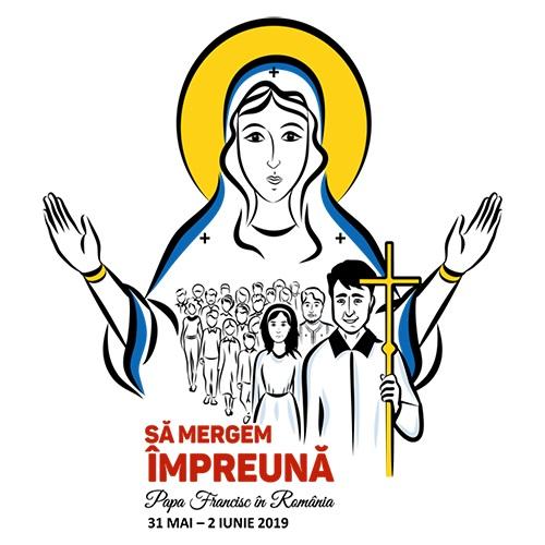 logo du voyage du Pape en Roumanie 31mai -2 juin 2019