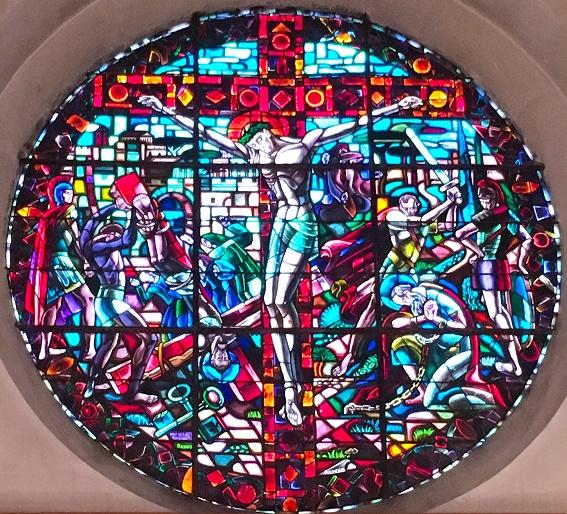 Martyres de Jésus, de saint Pierre et saint Paul - vitrail du chœur église Saint Pierre et saint Paul Ivry-sur-Seine 94
