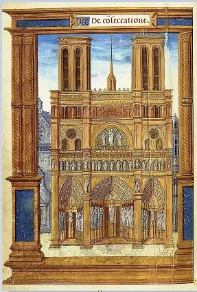 Notre-Dame de Paris vers 1525-1530 - pontifical romain.