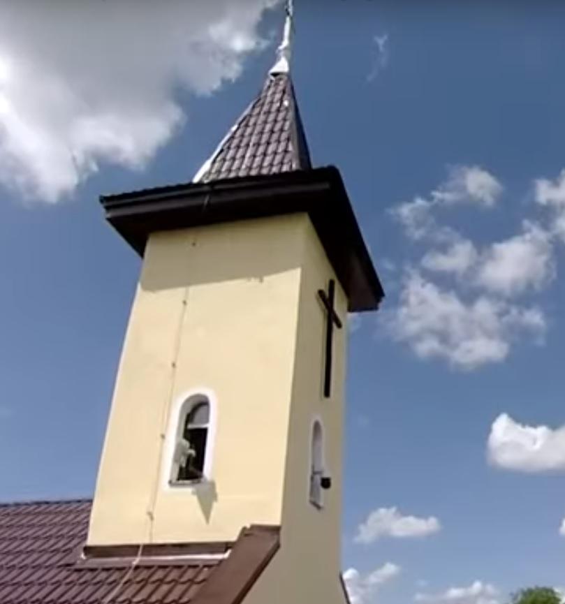 clocher de la chapelle dédiée à l'apôtre Saint André et au bienheureux Ioan Suciu à Blaj Roumaine