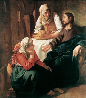 Le Christ dans la maison de Marthe et Marie, Jan Vermeer.