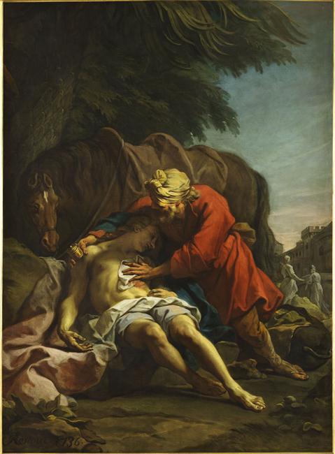 Le bon Samaritain Jean Restout 1692-1768 Angers musée des beaux-arts