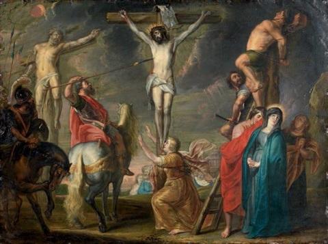 Rubens le coup de lance 1620 Koninklijnk Museum voor Schone Kunsten à Anvers