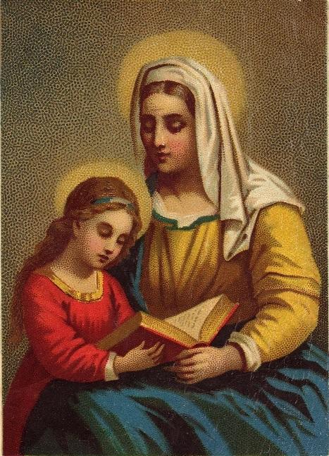 Sainte Anne apprenant à lire la Sainte Écriture à Marie