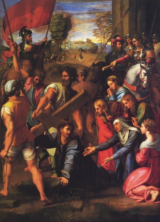 Christ sur le chemin de croix, Raphaël 1517 salle du trésor de Notre Dame de Paris