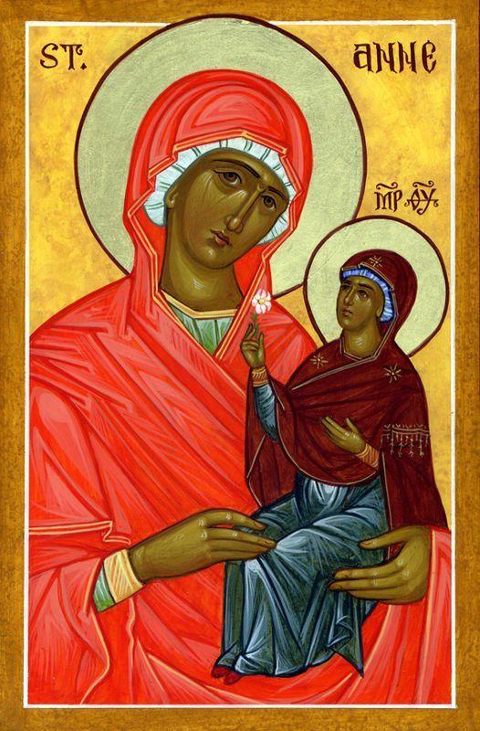 Icône de Sainte Anne et de la Mère de Dieu