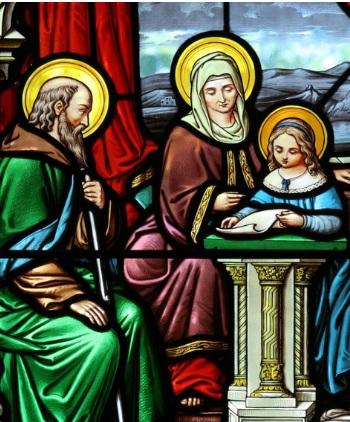 vitrail de Saints Joachim Anne et Marie - Paroisse Ste-Anne Mattawa Ontario Canada
