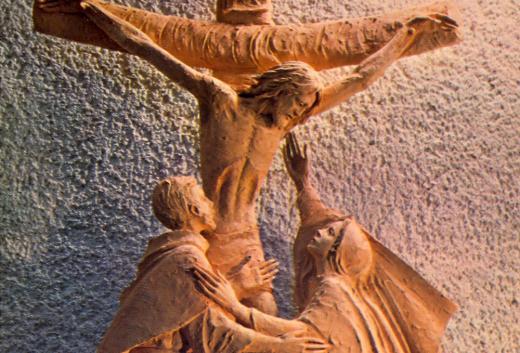 Jésus en croix, Marie et Jean