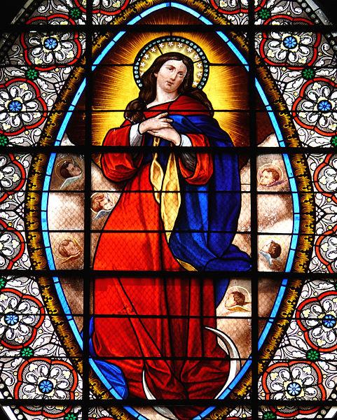 Vitrail de l' Assomption - Saint-Martin-Vésubie - Eglise Notre-Dame-de-l'Assomption