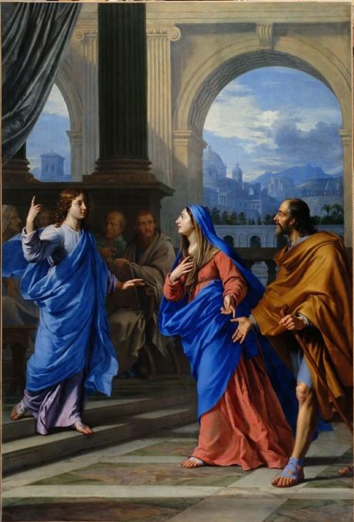 L'Enfant Jésus retrouvé dans le Temple  Philippe de Champaigne 1663