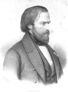 Frédéric Ozanam (1813-1853)- Gravure d'Antoine Maurin (+1860)