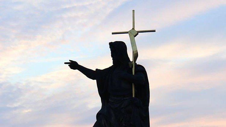 Christ proclamant la joie de l'Évangile
