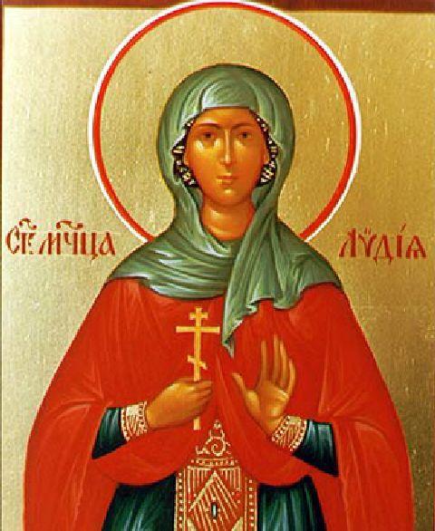 Lydie de Thyatire,t marchande de pourpre résidant avec sa famille à Philippes en Macédoine.