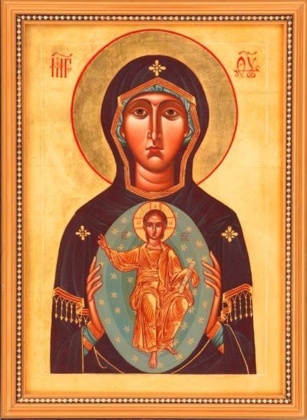 Icône de Marie avec Jésus en mandorle