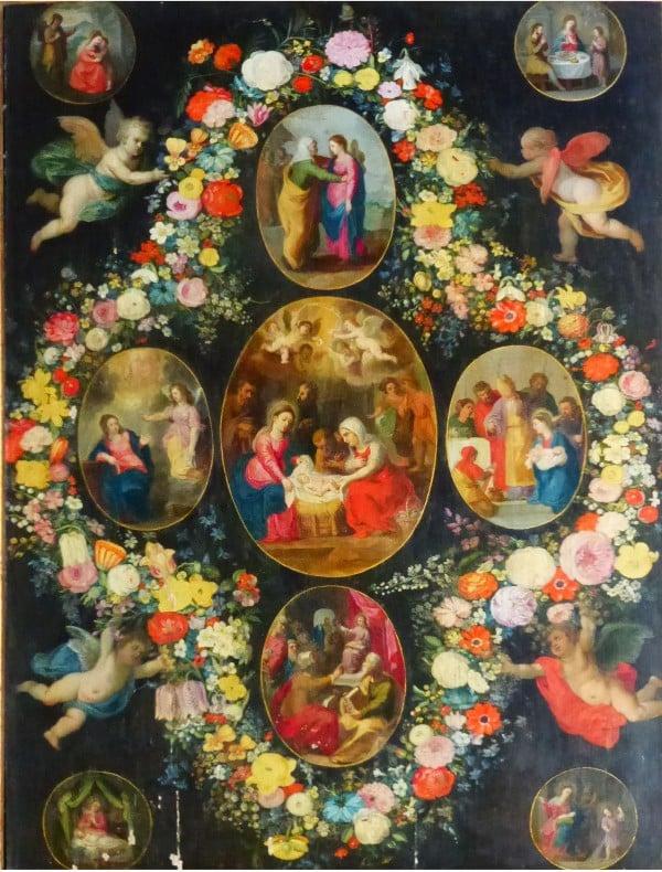Mystères joyeux - retable de l'église Notre-Dame de l'Assomption de Bougival