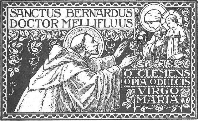 Saint Bernard, Jésus et la Vierge Marie