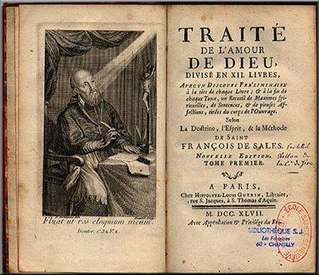 Traité de l'amour de Dieu de saint François de Sales