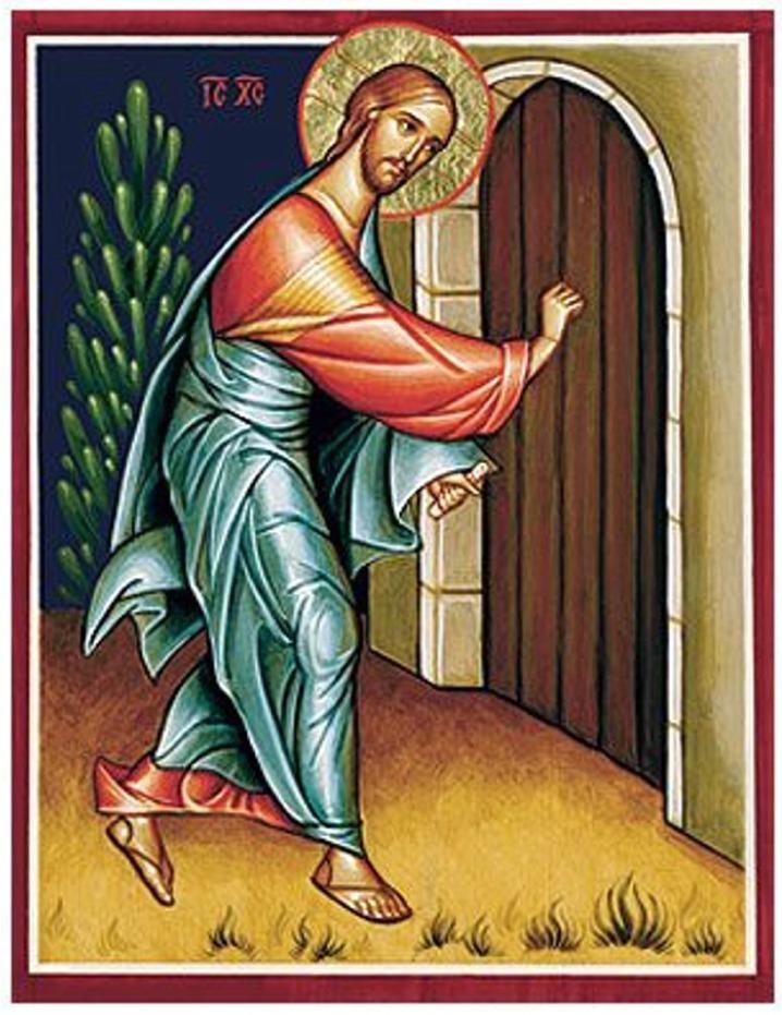 Jésus va frapper à la porte
