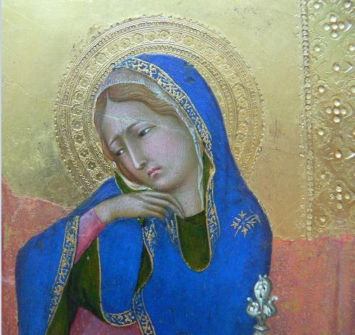 Simone Martini - détail de L'Annonciation, XIIIe siècle, Musée royal des Beaux-Arts d'Anvers