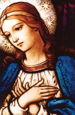 Vierge Marie en attente du Sauveur