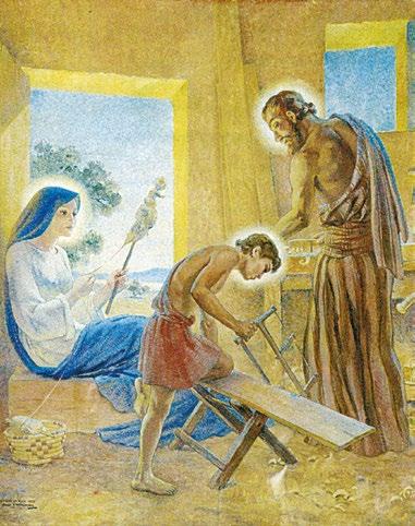 Sainte Famille, James Willkinson (1937) église de Dieulefit (Drôme) - D.R.