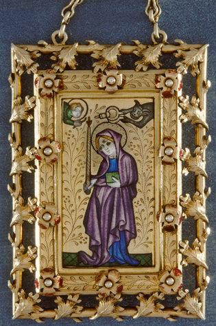 tableau-reliquaire de sainte Geneviève - musée de Cluny Paris