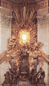 Le Bernin – la chaire de saint Pierre – Saint-Pierre de Rome