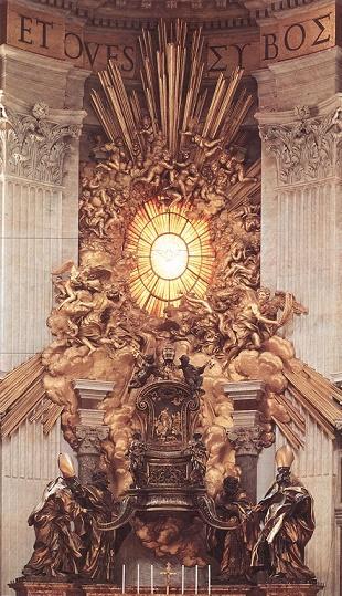 Le Bernin - la chaire de saint Pierre - basilique Saint-Pierre