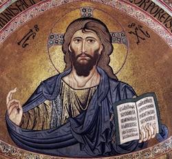 Christ, Parole de Dieu, cathédrale de Cefalù Sicile