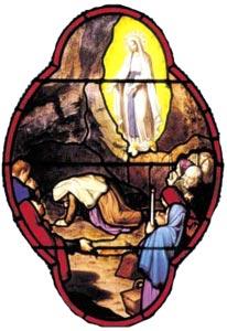 Lourdes 9e apparition de la Vierge à Bernadette.