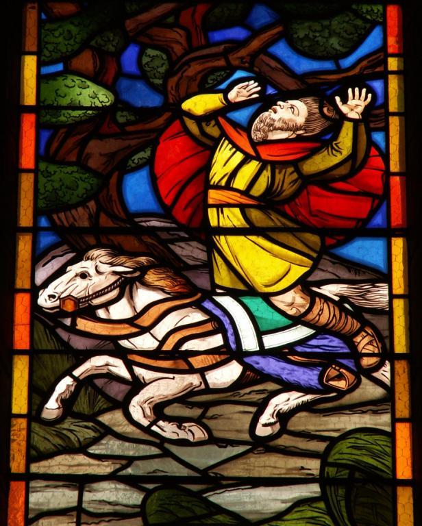 la mort d'Absalon - Châteauroux - église Saint-christophe