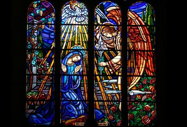 Annonciation vitrail église du Sacré-Coeur Bourg-en-Bresse