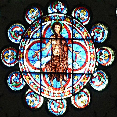 Rosace du jugement dernier - Chartres détail central